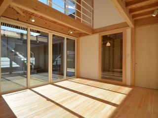 鶴生田の家 モダンな 壁&床 の POTOS DESIGN OFFICE モダン