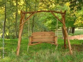 EKOMEBEL huśtawka 2-osobowa: styl , w kategorii  zaprojektowany przez Ekomebel - dębowe meble ogrodowe
