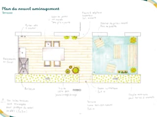 Angèle Ethuin - Designer d'intérieur & Coloristeが手掛けたベランダ