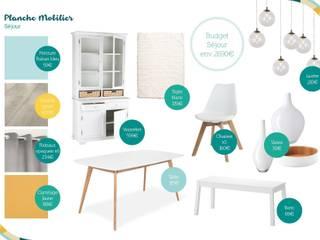 Salas de estar escandinavas por Angèle Ethuin - Designer d'intérieur & Coloriste