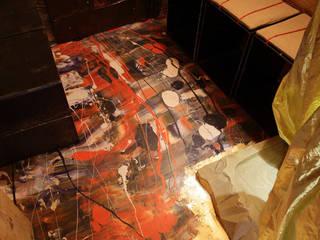 Pavimento in resina:  in stile  di Elena Milani Arti visive e Design