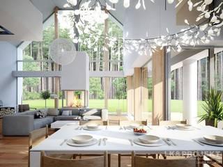 LK&1162: styl , w kategorii Jadalnia zaprojektowany przez LK & Projekt Sp. z o.o.,