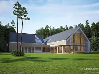 LK&1162: styl , w kategorii Domy zaprojektowany przez LK & Projekt Sp. z o.o.,