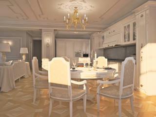 Лёгкость классики Столовая комната в классическом стиле от DARIA_MEZENTSEVA Классический
