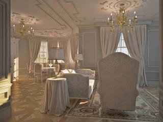 Лёгкость классики: Гостиная в . Автор – DARIA_MEZENTSEVA