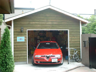 Garajes de estilo rural de J-STYLE GARAGE Co.,Ltd. Rural