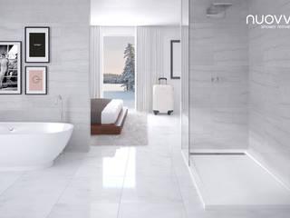 Ambiente con plato de ducha STONE: Baños de estilo  de NUOVVO