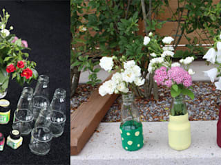 Upcycling: Blumentöpfe aus einfachen Glasflaschen :   von mydays