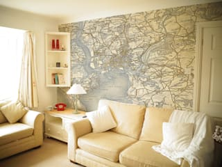 Custom Vintage Map Wallpaper Love Maps On Ltd. Paredes y pisosPapel tapiz
