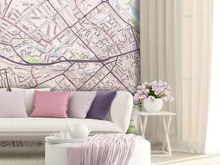 Custom Map Wallpaper Love Maps On Ltd. Paredes y pisosPapel tapiz