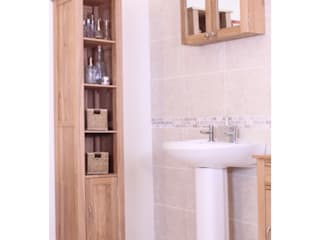 Bonsoni Mobel Oak Wall Mounted Bathroom Cabinet (Large):  Bathroom by Bonsoni.com