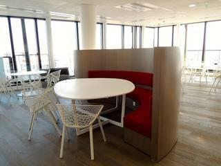 Bureaux/Espace cafétéria Stago – Asnières-sur-Seine AD9 Agencement Espaces de bureaux modernes