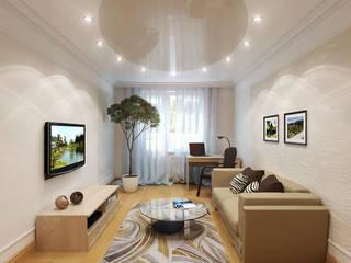 Интерьер квартиры с намеком на фэн-шуй: Гостиная в . Автор – Студия интерьера 'SENSE'