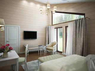 Dormitorios de estilo clásico de Студия интерьера 'SENSE' Clásico