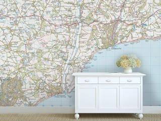 Custom Map Wallpaper Love Maps On Ltd. Walls & flooringWallpaper
