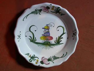 Quelques pièces de faïence traditionnelle de Samadet, autour de la table ! par L' Atelier de Faïences de Muriel Rural
