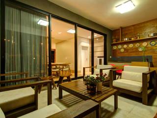 Residência VG: Terraços  por ÓBVIO: escritório de arquitetura,Moderno