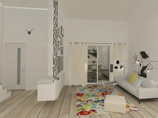 Appartement 150m2: Salon de style de style Moderne par Silvia Gianni