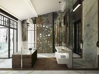 2 этаж. Ванная комната: Ванные комнаты в . Автор – WhiteRoom