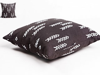 poduszka lniana dark grey od Leżę i Pachnę Skandynawski