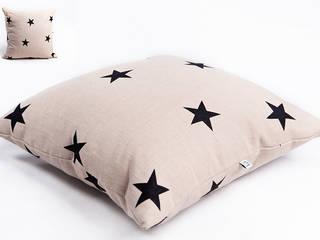 poduszka lniana beige star od Leżę i Pachnę Skandynawski