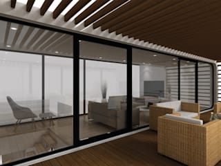 coodo ist mobile living Moderner Balkon, Veranda & Terrasse von LTG Lofts to go - coodo Modern