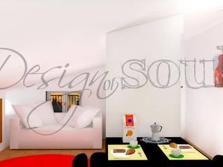 Restauro e progettazione arredamento di un attico in una casa di campagna.. Soggiorno eclettico di Design of SOUL Interior DESIGN Eclettico