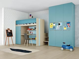 Children's Bedroom with Plenty of Storage: modern  by Nubie Kids , Modern