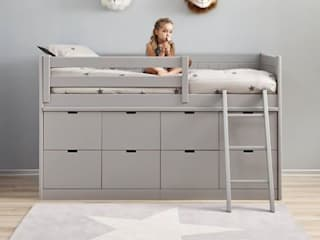 Box Bed with 8 Deep Storage Drawers :   by Nubie Kids