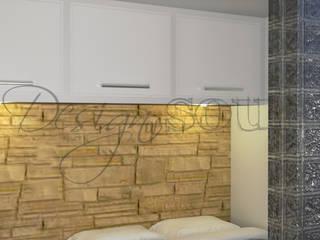 Progetto di VIRTUAL HOME STAGING Appartamento 38 MQ Camera da letto eclettica di Design of SOUL Interior DESIGN Eclettico