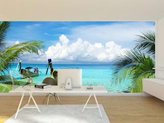 Home office wall mural:   by Transform a Wall