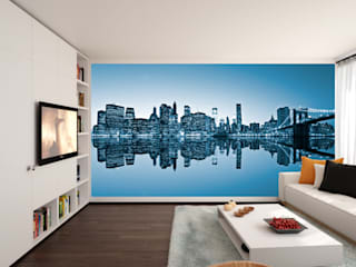 Living room wall mural:   by Transform a Wall