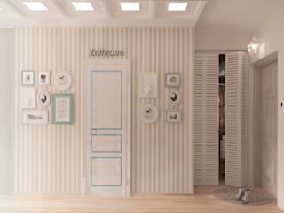 經典風格的走廊,走廊和樓梯 根據 Katerina Butenko 古典風