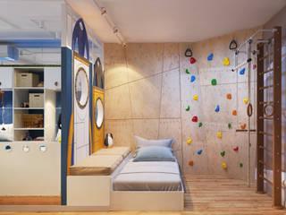 Проект детской комнаты двух мальчиков Детские комната в эклектичном стиле от Katerina Butenko Эклектичный