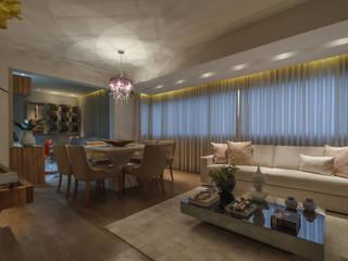 Apartamento em Belo Horizonte Lívia Bonfim Designer de Interiores Salas de estar modernas