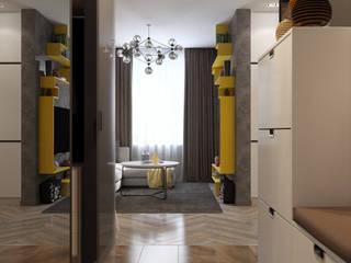Однокомнатная квартира для студента в ЖК Эдальго: Коридор и прихожая в . Автор – WOWROOM design studio