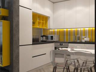 Однокомнатная квартира для студента в ЖК Эдальго Кухня в стиле минимализм от WOWROOM design studio Минимализм