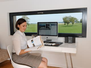 Projekty,  Domowe biuro i gabinet zaprojektowane przez Bau-Fritz GmbH & Co. KG,