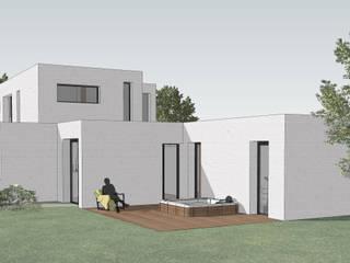 Projet P - maison en 3D: Maisons de style  par AGENCE D'ARCHITECTURE BRAYER-HUGON