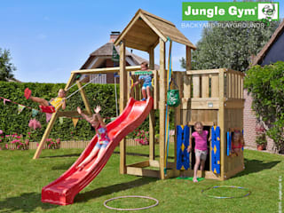 Jungle Gym Mansion Playhouse & 2-Swing X'tra:   door Jungle Gym