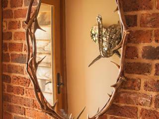 No Footsie Oval Antler Mirror:   by Port Wood Furniture Studio