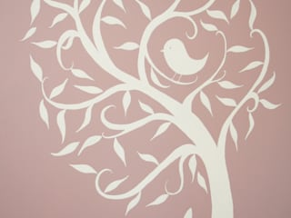 Alexandra's White Tree Mural : scandinavian  by The Creative Decorator, Scandinavian