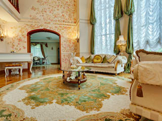 Гостиная загородного дома:  в . Автор – Authors carpets 'Palazzo Design'