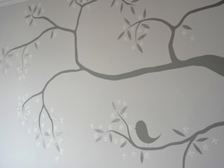 The Grey Tree Mural :   by The Creative Decorator