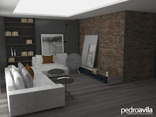 Living room by pedroavila.com.mx,