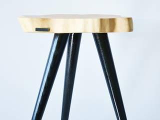 Stołki / Stoliki STILL WOOD -Yellow, Black, Mint od D2 Studio Minimalistyczny