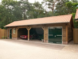 Houten garages:  Garage/schuur door Geldersche Houtbouw