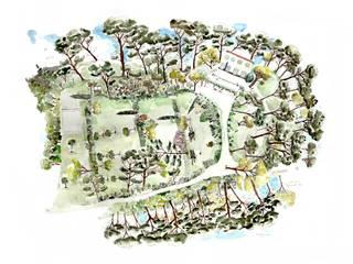 Carte de jardin de particulier / Aix-en-Provence par Amandine MARIA / Cartographies