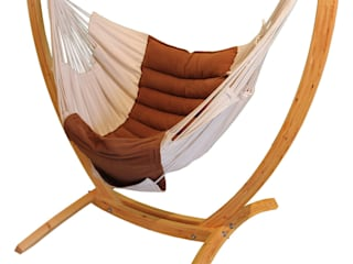 Wooden Arc Hanging Chair Stand:   by Maranon World of Hammocks
