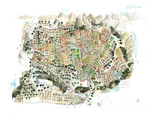 Carte de valorisation de territoire touristique / Chambres d'hôtes par Amandine MARIA / Cartographies